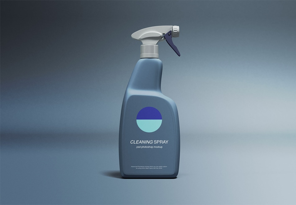 Cleaning Spray Mockup