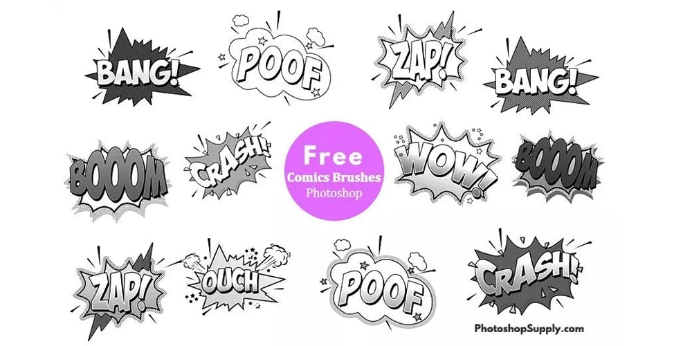 Comic Book Sound Effects Brushes