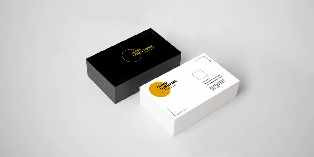 Corporate Visiting Card Mockup PSD