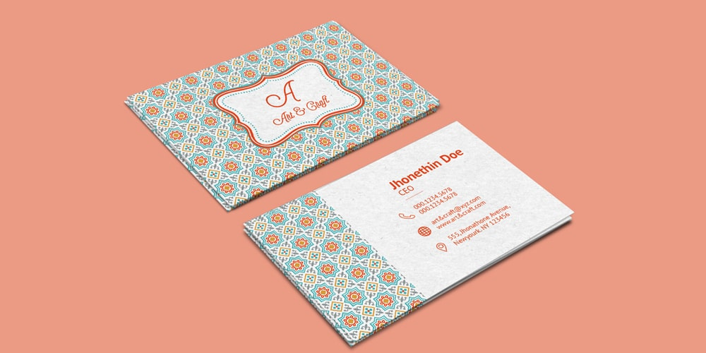 Craft Agency Business Card Template