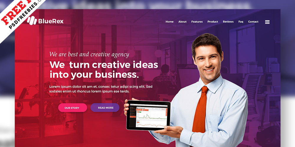 Creative Agency Web Design PSD