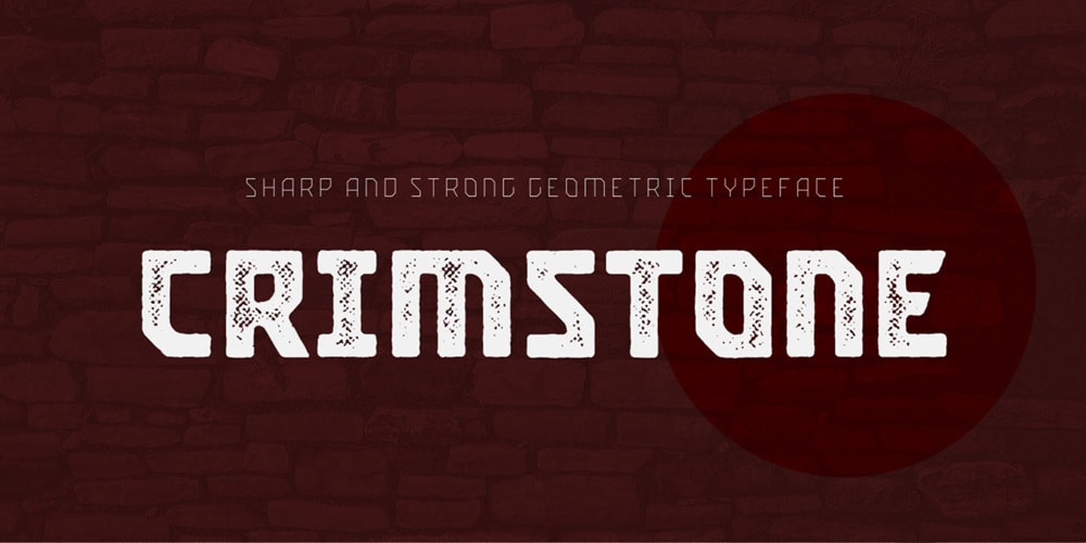Crimstone Geometric Font