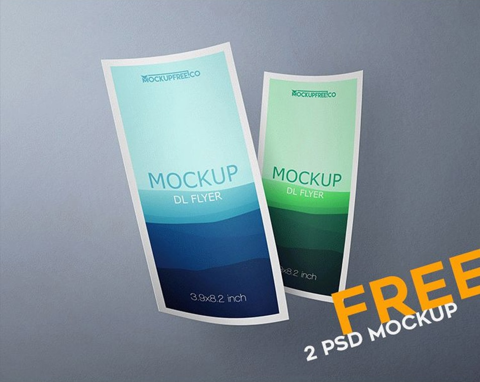 DL Flyer PSD Mockups