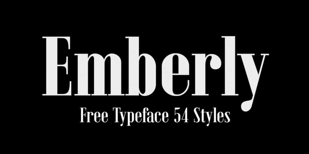 Emberly Display Typeface