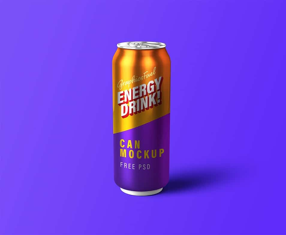 Energy Drink Can PSD Mockup