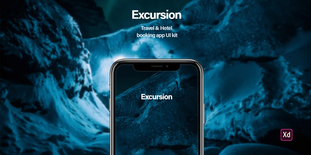 Excursion - Travel and Hotel Bokking App UI Kit