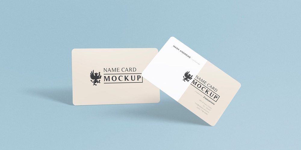 Exquisite Name Card Mockup PSD