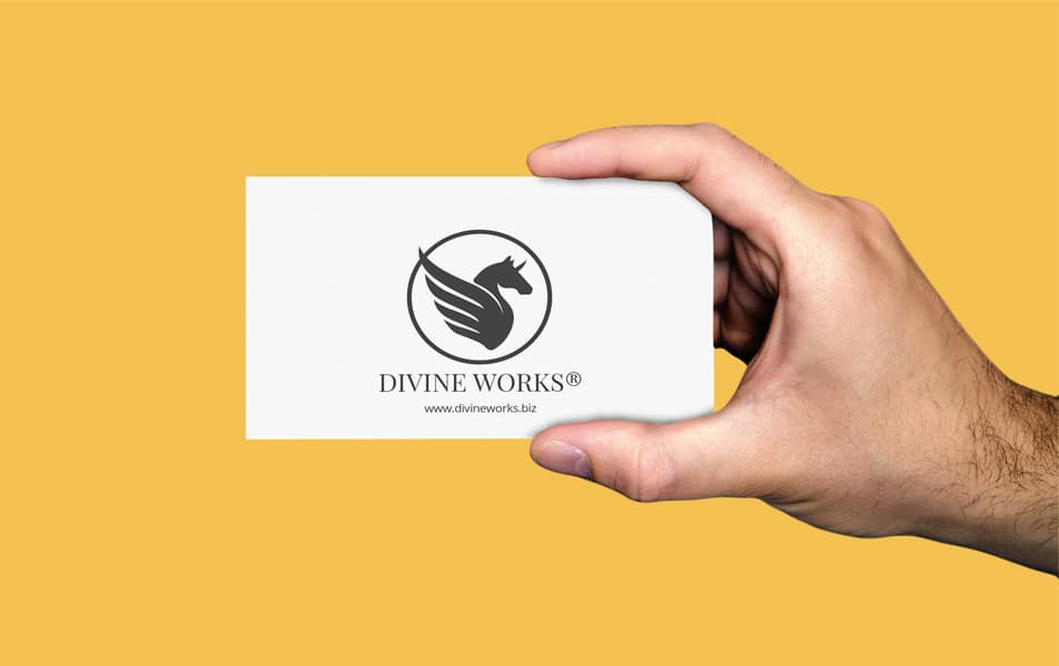 Free Hand Held Business Card Mockup