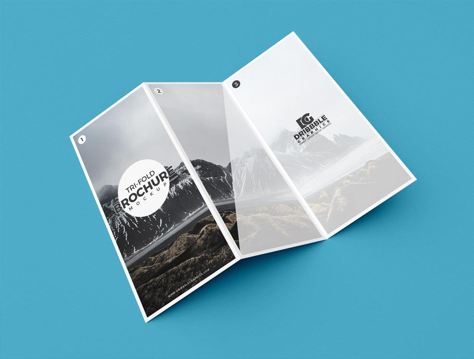 Free Modern Tri Fold Brochure Mockup Psd Css Author
