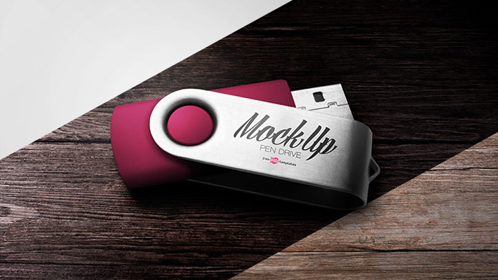 Free Pen Drive Mock-up in PSD