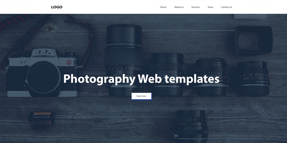 Free Photography Web Templates PSD