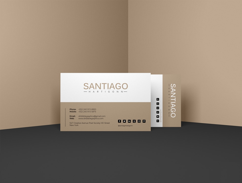 Free Prime Business Card Mockup PSD