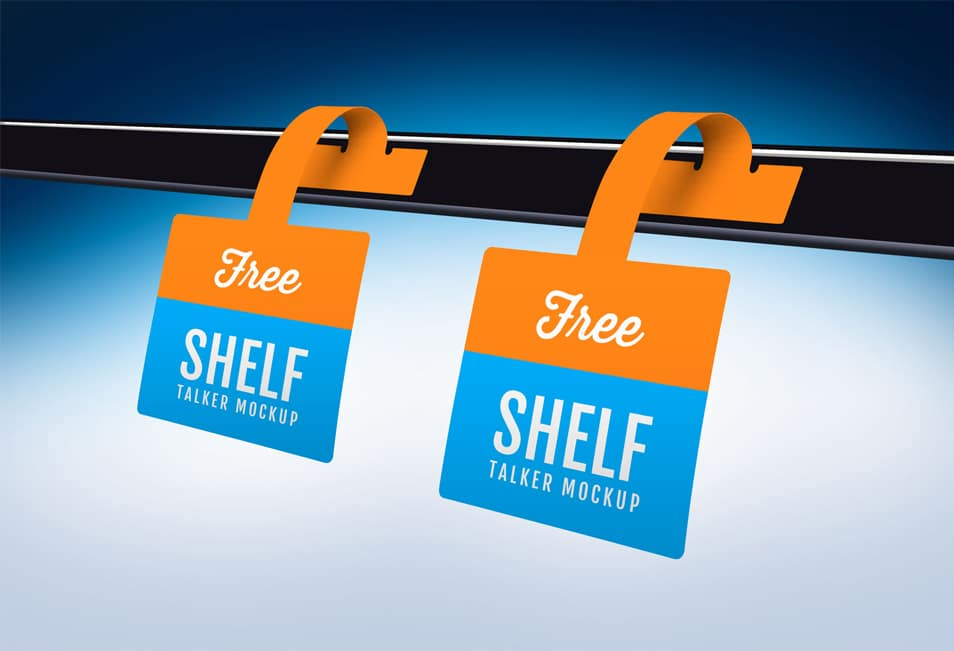 Free Shelf Talker Wobbler Mockup PSD