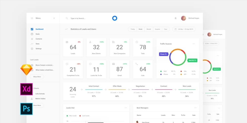 Free Simple Dashboard UI Template