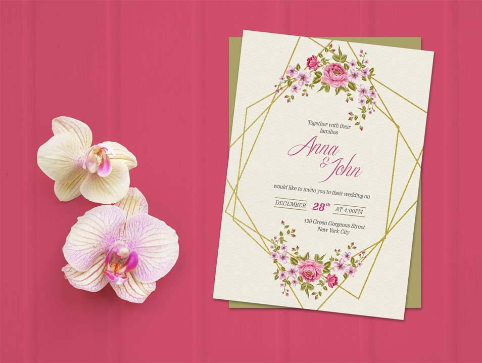 Free Wedding Invitation Card Template & Mockup PSD » CSS ...