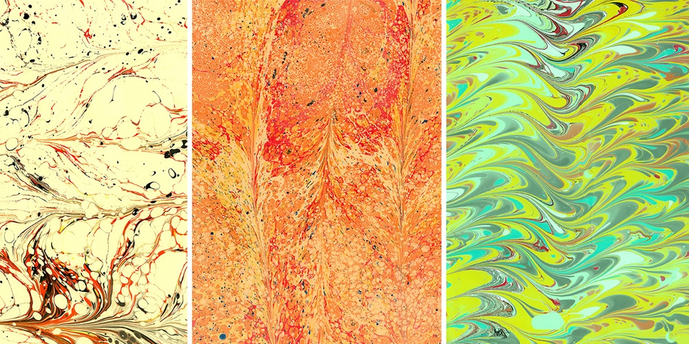 Hand Picked Marbled Paper Textures