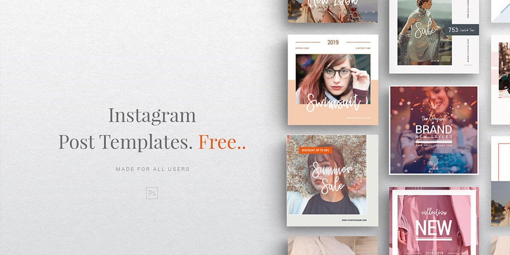Instagram Fashion Post Template PSD