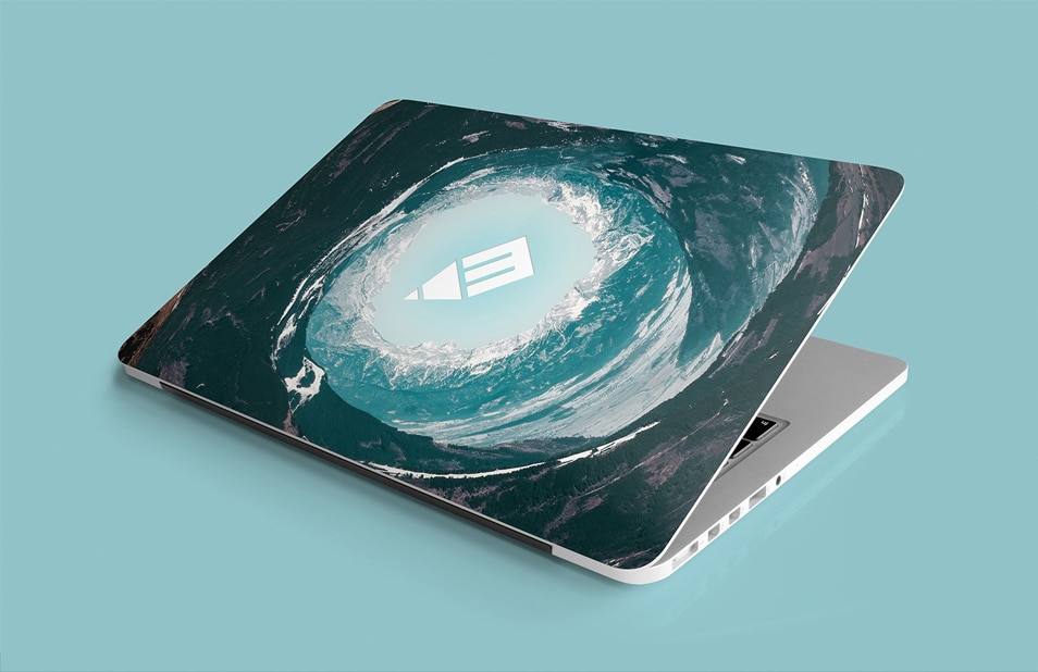 Laptop Sticker & Skin Mockup