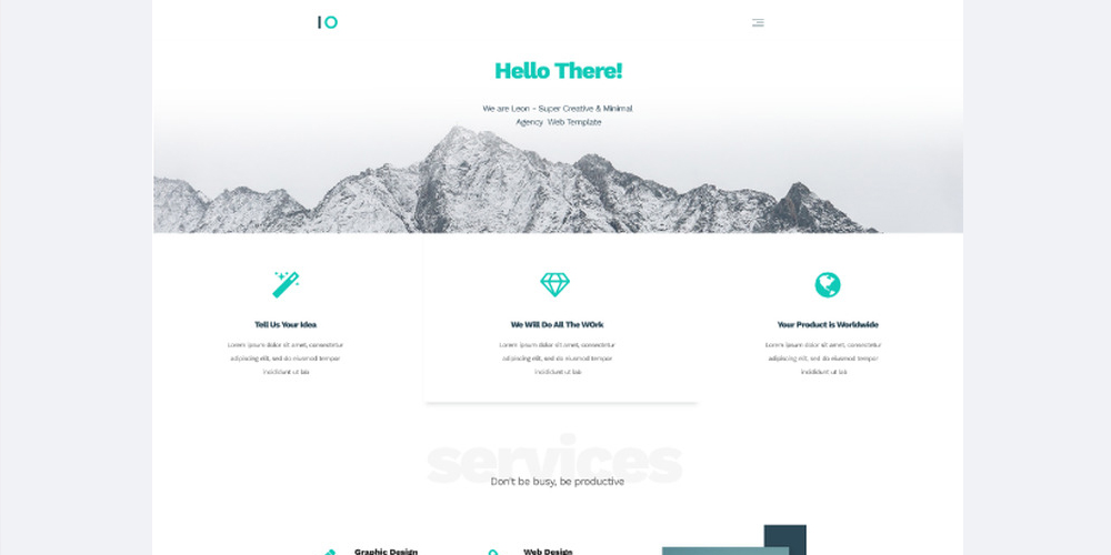 Leon Agency Template PSD