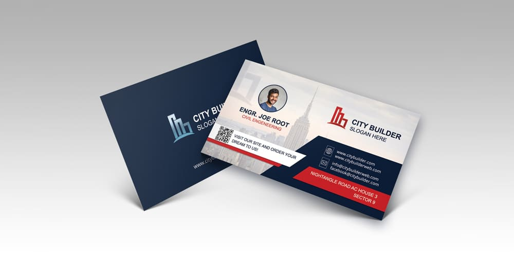 Modern Clean Business Card Mock-up
