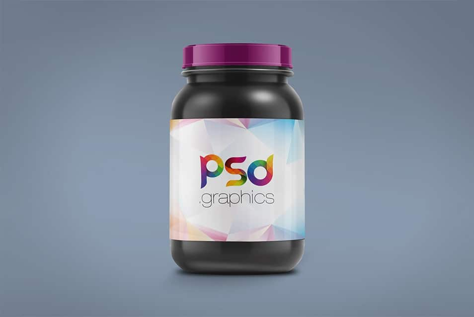 Plastic Jar Packaging Mockup