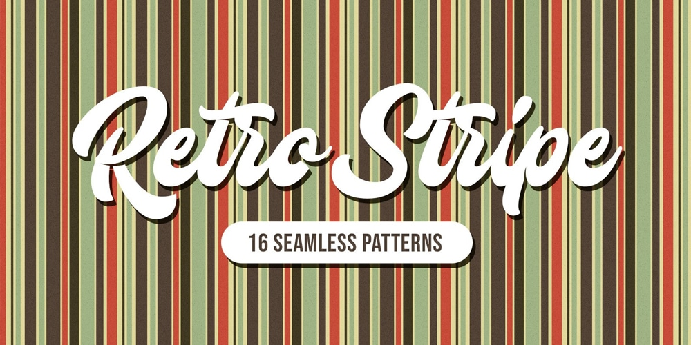 Retro Stripe Seamless Patterns