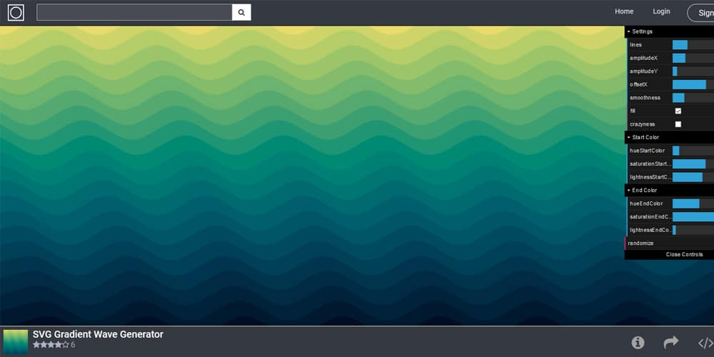 SVG Gradient Wave Generator