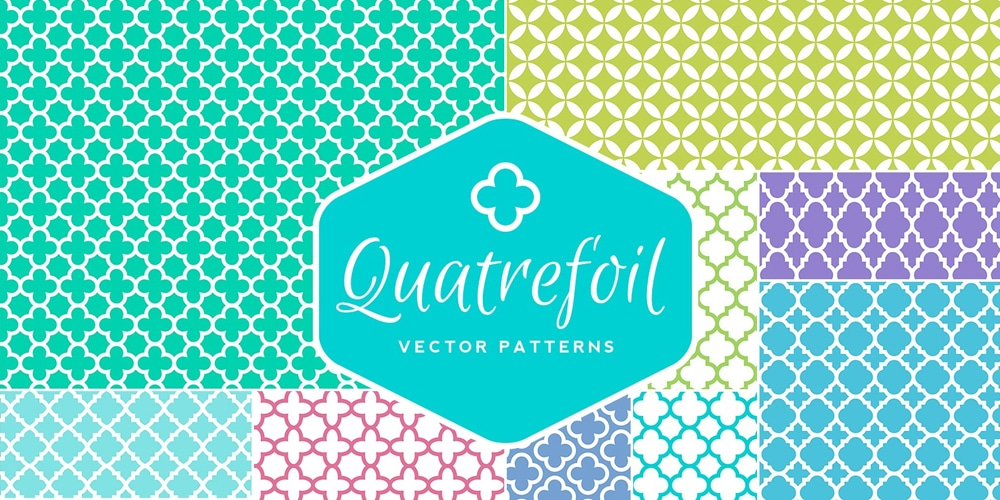Seamless Vector Quatrefoil Patterns