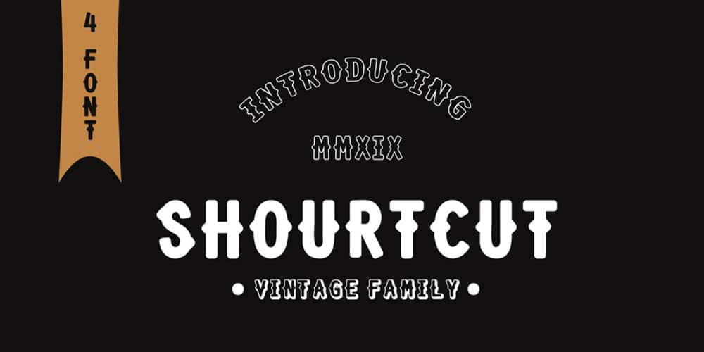 Shourtcut Retro Themed Font