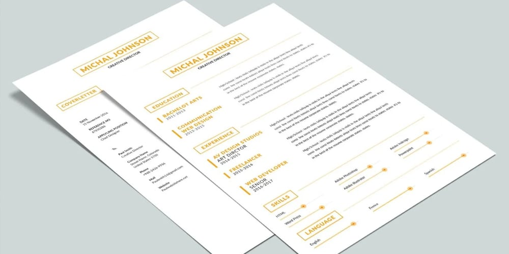 Simple Two Pages Resume