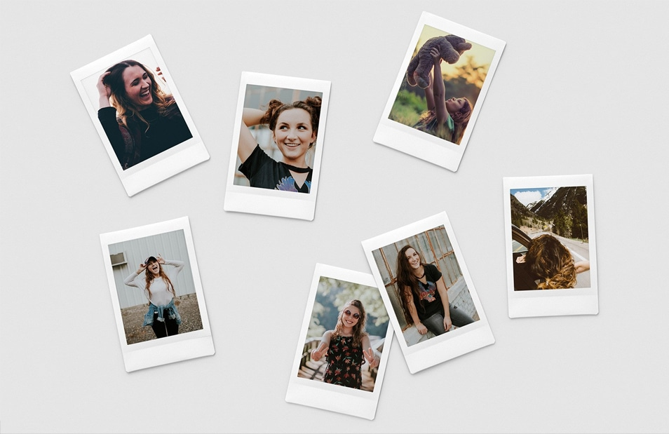 Slim Instant Photo Collage Mockups