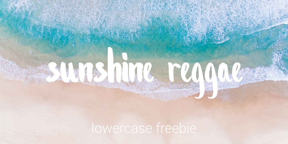 Sunshine Reggae Lowercase