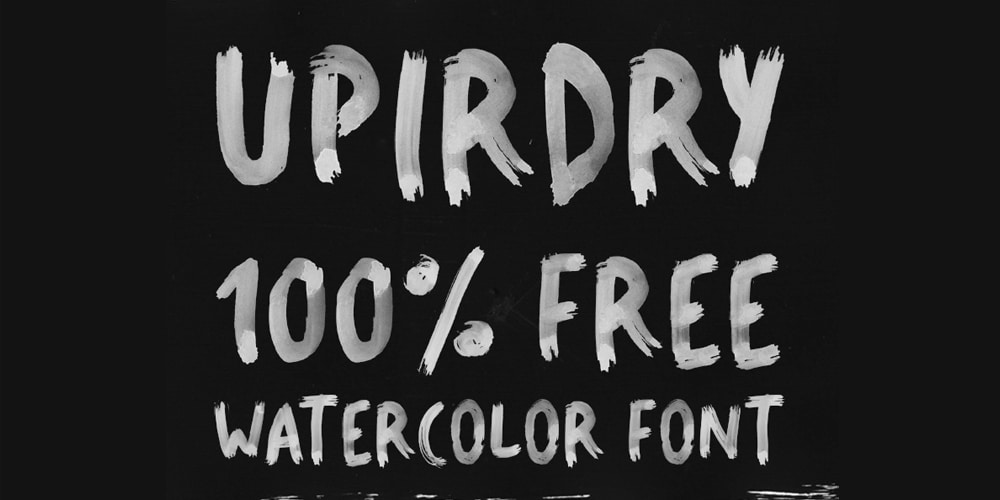 Upirdry Water Brush Font