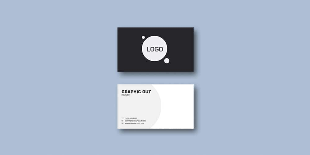 Visiting Business Card Mockup