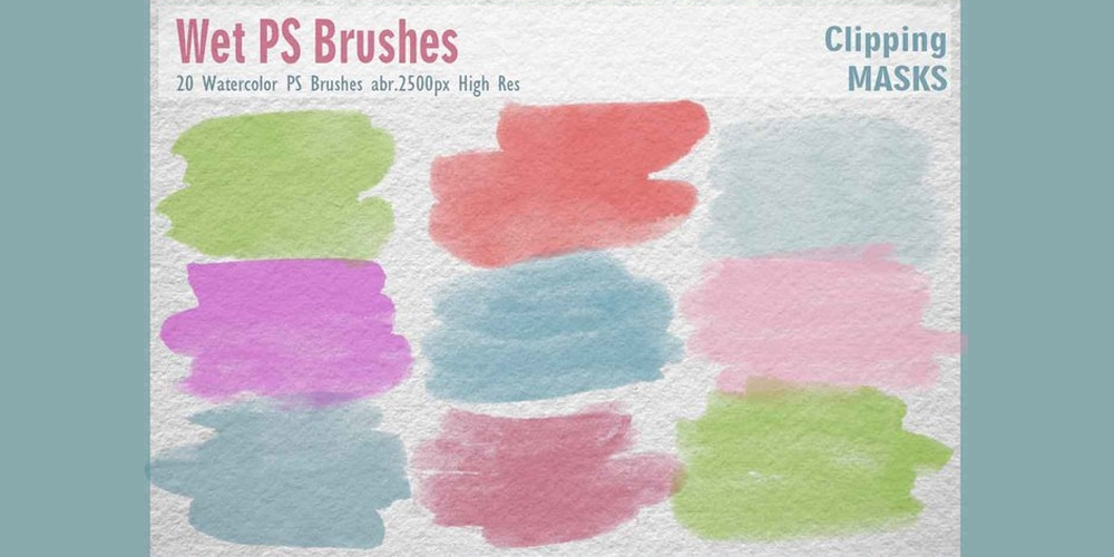 Watercolor Mask Photoshop Brushes