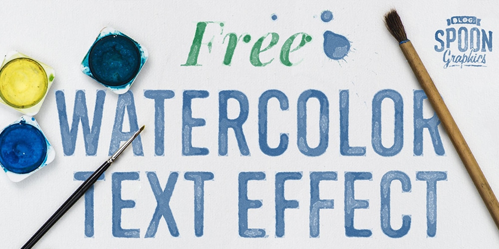 Watercolour Text Effect Smart PSD