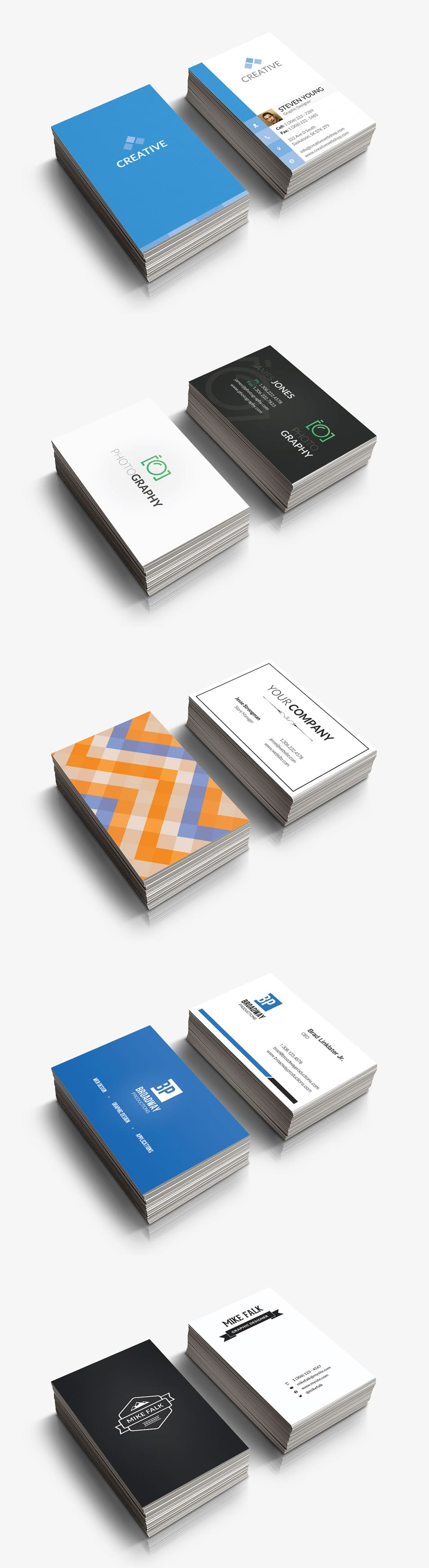 5 Free Business Card Templates