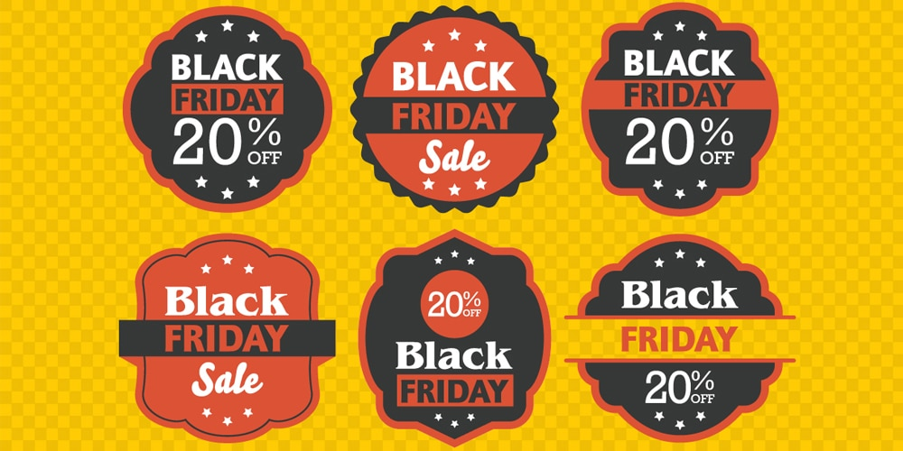 Abstract Black Friday Labels Designs