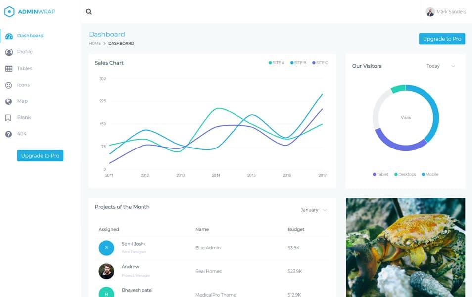 AdminWrap Bootstrap Lite