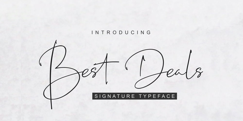 Best Deals Signature Typeface