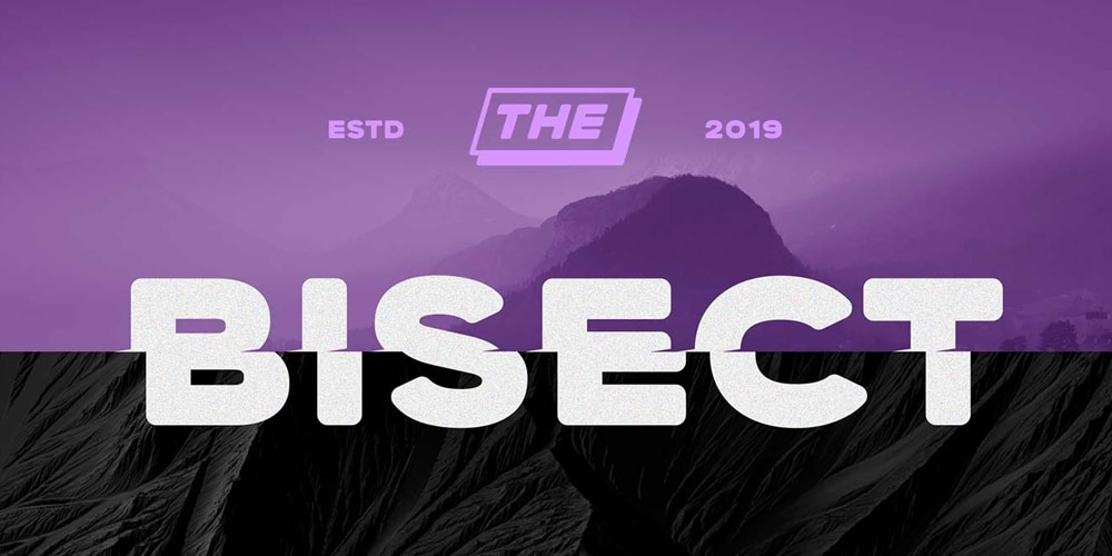 Bisect Display Font
