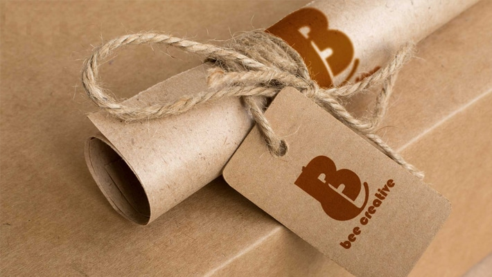Brown Paper Carft Tag Label Mockup