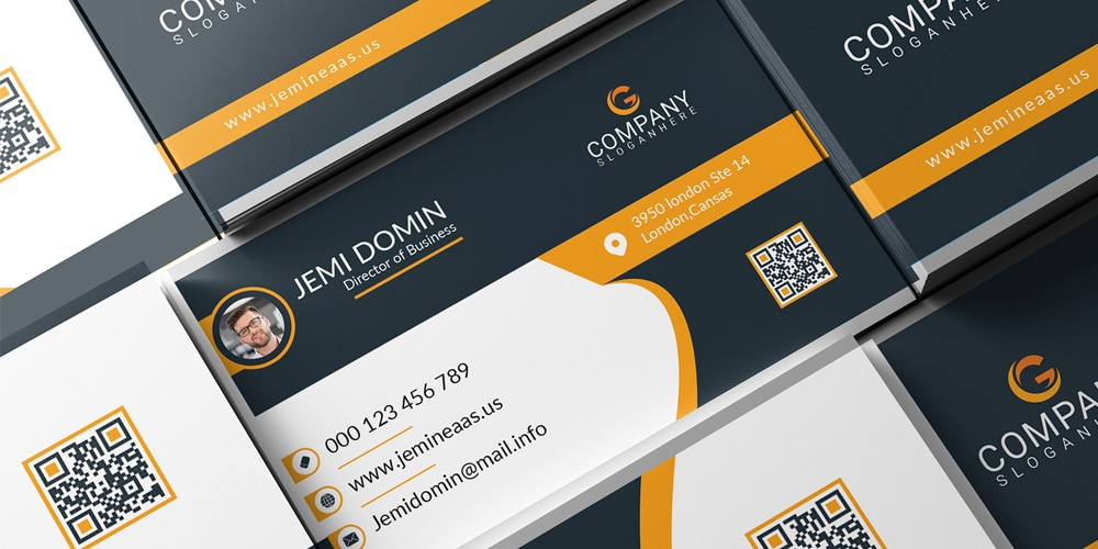 Business Card With Mockup PSD