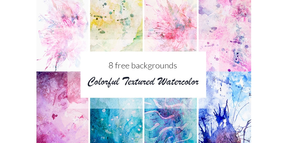 Colorful Textured Watercolor Backgrounds