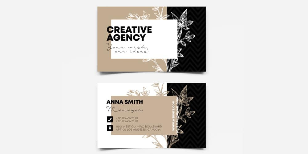 Creative Agency Business Card Template
