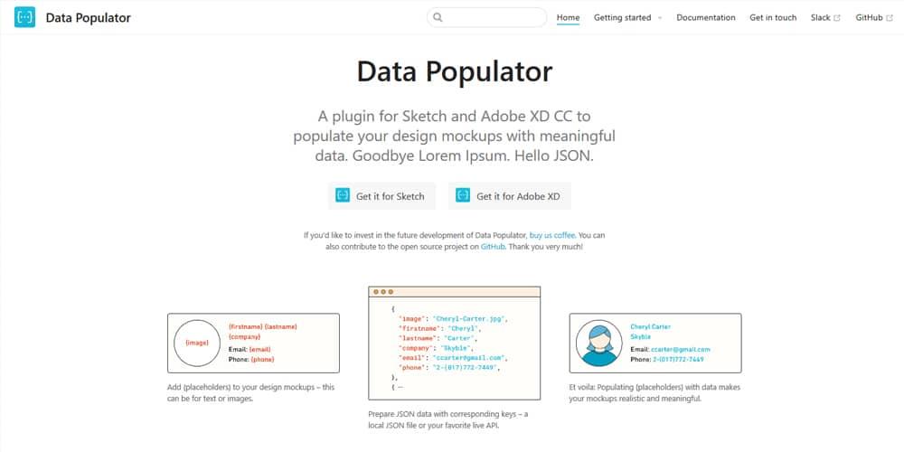 Populator de datos