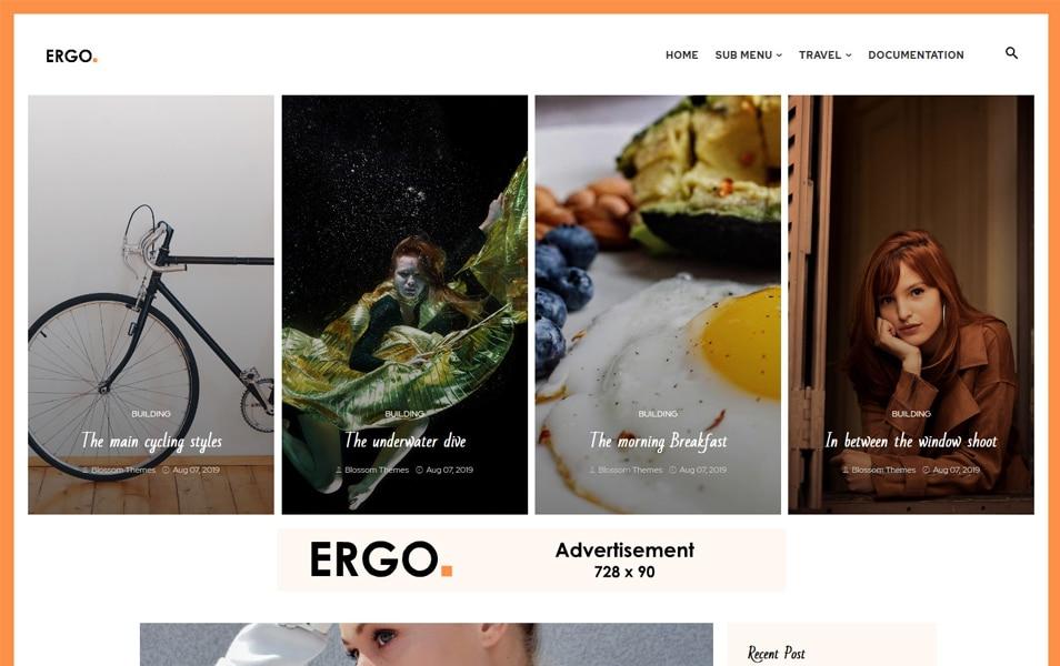 Ergo Responsive Blogger Theme