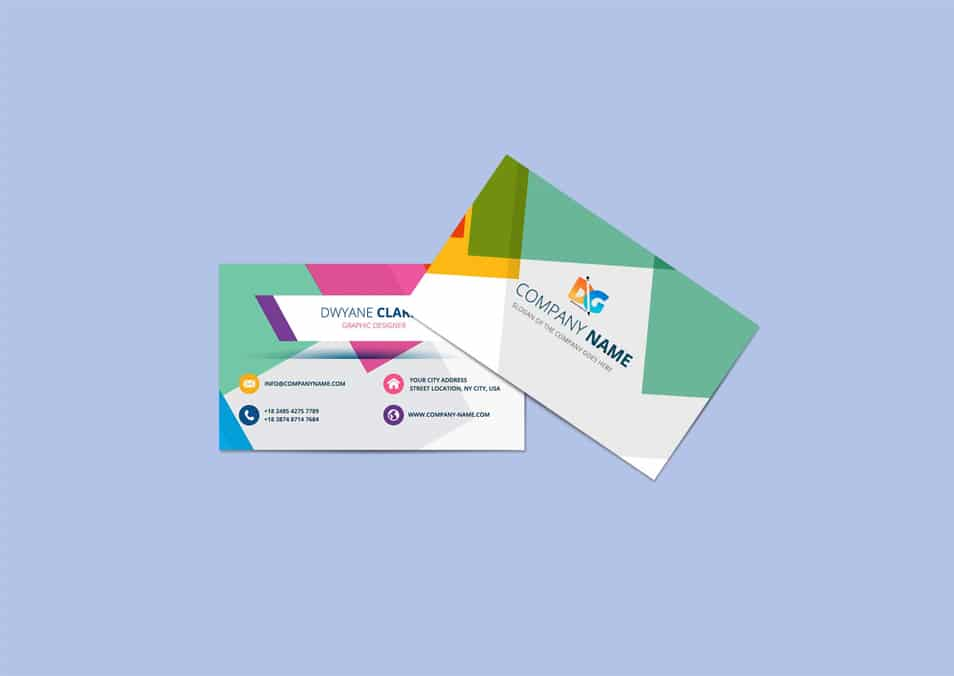 Free Beautiful Horizontal Business Card Mockups