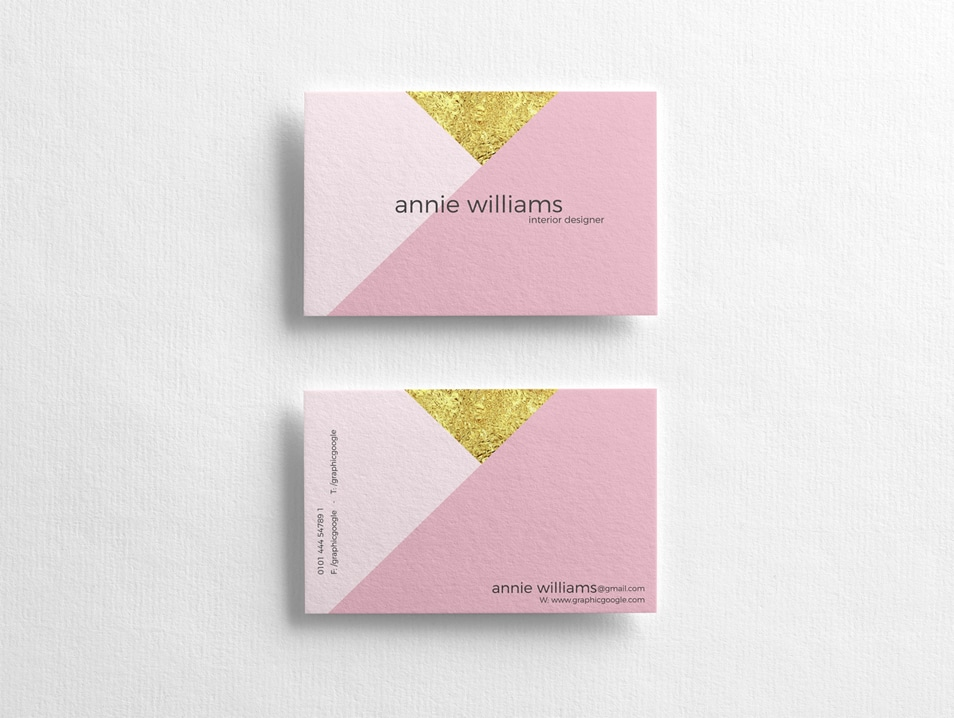 Free Elegant Texture Business Cards Mockup PSD