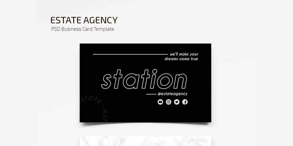 Free Estate Business Card Template